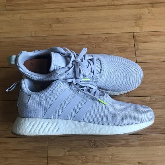 Adidas Shoes Originals Nmd R2 Grey White Gum Size 12 Poshmark
